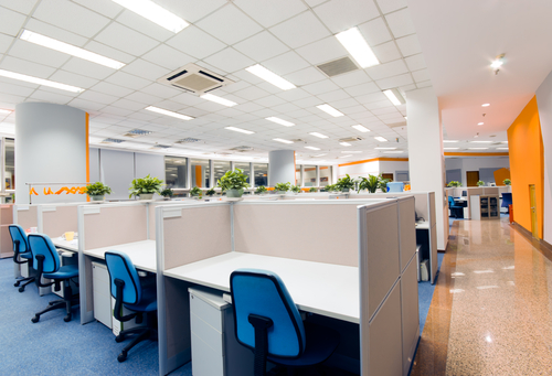 Smart lighting systems in the office can contribute to productivity.